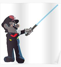 Jedi Mario T-Shirt Poster