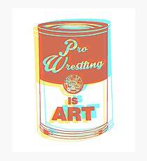 Pro Wrestling is Art (3D) Photographic Print