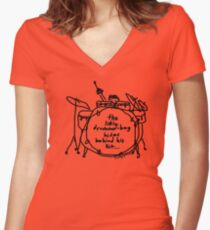 'Hide n' Snare' Women's Fitted V-Neck T-Shirt