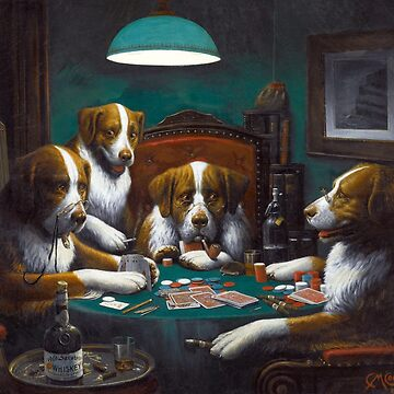 Poker Game (Dogs Playing Poker) by C. M. Coolidge by vintageemporium