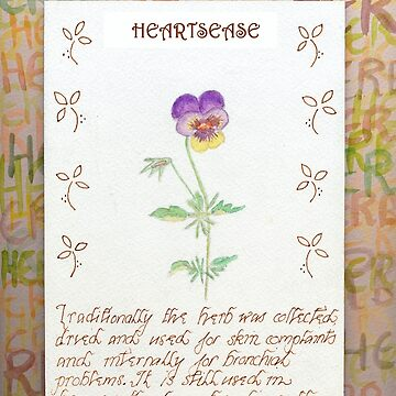 Water Colour Heartease - Herbal by cdwork