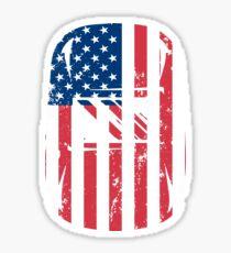 Patriotic Welding Helmet Sticker