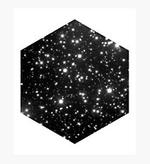 Space - Black Cosmic Stars Universe Design Photographic Print