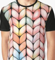 Chunky Rainbow Knit Graphic T-Shirt