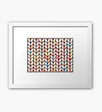 Chunky Rainbow Knit Framed Print