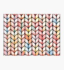 Chunky Rainbow Knit Photographic Print