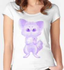 Purple Fluff Ball Women's Fitted Scoop T-Shirt