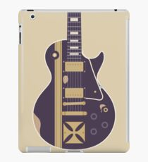 James Hetfield Gibson Les Paul Iron Cross Guitar (Purple) iPad Case/Skin