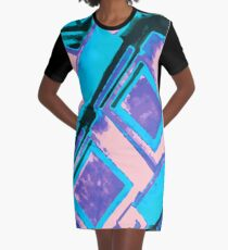 Funky Abstract Architecture  Graphic T-Shirt Dress