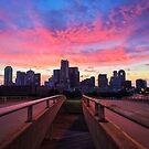 Dallas Fiery Pink Bridges Sunset  by josephhaubert
