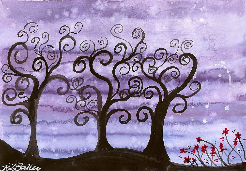 Starlit Trees by klbailey