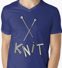 knit!!! Men's V-Neck T-Shirt