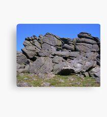 A Tumble Of Rocks (Hound Tor, Devon) Canvas Print