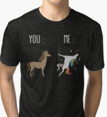 You and me Unicorn Tri-blend T-Shirt