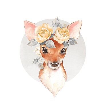 Fawn and yellow roses by Gribanessa