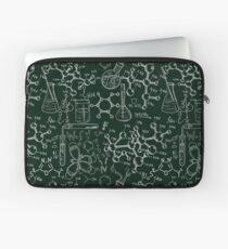 Vintage science old chemistry laboratory seamless pattern Laptop Sleeve