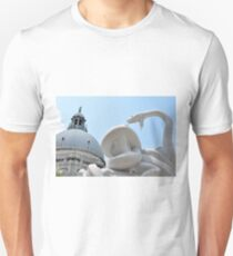 Sculpture with snakes near the Basilica di Santa Maria della Salute in Venice, Italy Unisex T-Shirt