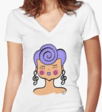 Cotton Candy Girl! Women's Fitted V-Neck T-Shirt