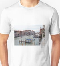 View of buildings from Canal Grande in Venice, Italy and busy boats T-Shirt