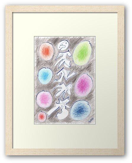 0305 - Aufstiegspfahl with colorful Spots von tigerthilo