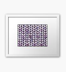 Chunky Lilac Knit Framed Print