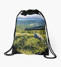 stones on the hill of mountain range Drawstring Bag
