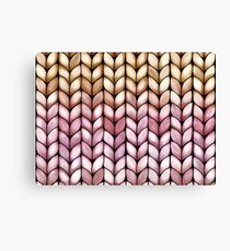 Chunky Raspberry Caramel Knit Canvas Print