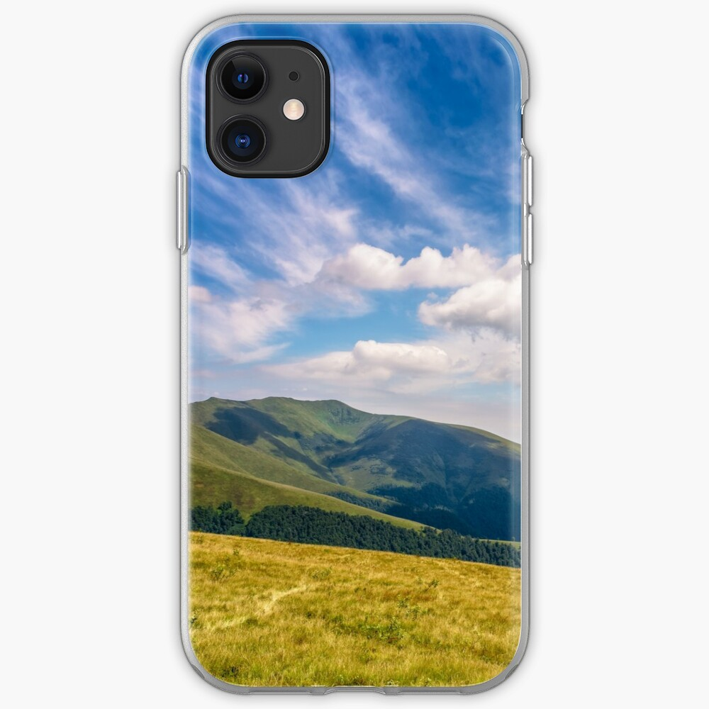 hill side meadow in summer iPhone Soft Case