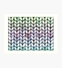 Chunky Lavender Forest Knit Art Print
