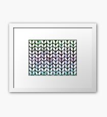 Chunky Lavender Forest Knit Framed Print