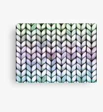 Chunky Lavender Forest Knit Canvas Print