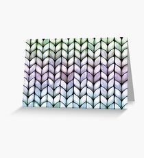 Chunky Lavender Forest Knit Greeting Card