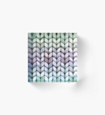 Chunky Lavender Forest Knit Acrylic Block