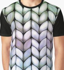Chunky Lavender Forest Knit Graphic T-Shirt