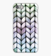 Chunky Lavender Forest Knit iPhone Case/Skin