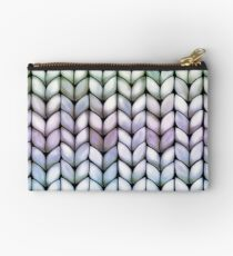 Chunky Lavender Forest Knit Studio Pouch