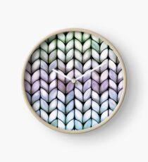 Chunky Lavender Forest Knit Clock