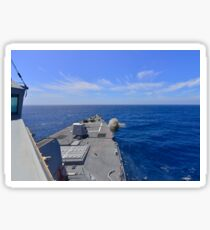 USS Michael Murphy fires its MK45 5-inch lightweight gun. Sticker