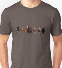 Shetland pony line Unisex T-Shirt