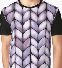 Chunky Lilac Knit Graphic T-Shirt