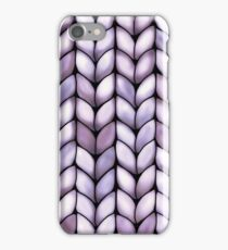 Chunky Lilac Knit iPhone Case/Skin