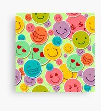Hilarious Smiley Design Canvas Print