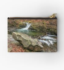 forest river with stones and moss Studio Pouch