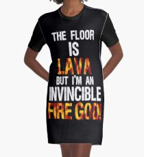 The Floor is Lava  Graphic T-Shirt Dress