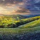 day nad night concept of Rural landscape by mike-pellinni