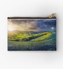 day nad night concept of Rural landscape Studio Pouch