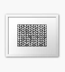 Chunky Charcoal Knit Framed Print