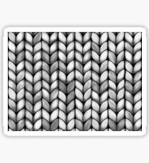 Chunky Charcoal Knit Sticker