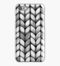 Chunky Charcoal Knit iPhone Case/Skin