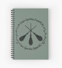CROSSED BROOMS EMBLEM Spiral Notebook